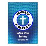 La cruz santa invita invitación 12,7 x 17,8 cm