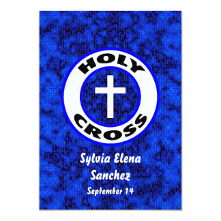 """La cruz santa invita invitación 5"""" x 7"""""""