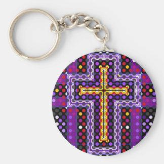 La cruz santa llavero personalizado