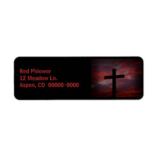 La cruz se descolora para ennegrecerse etiqueta de remite
