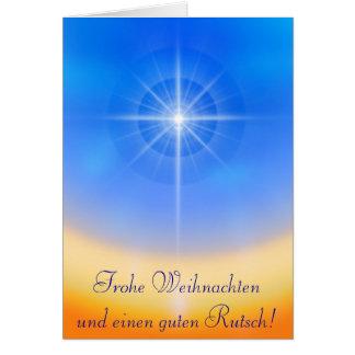 La cruz tarjeta de felicitación