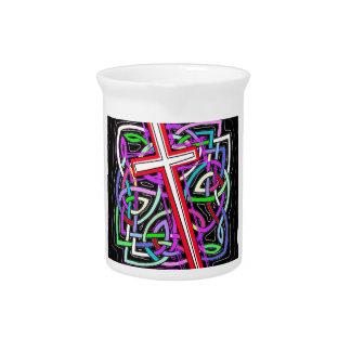 La cruz y el laberinto jarra de beber