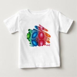 La cuadrica tuerce en espiral camiseta del niño remeras
