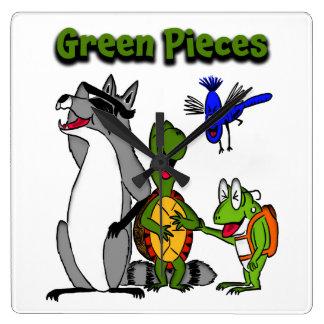 """La cuadrilla de los """"pedazos verdes"""" por Drew Relojes"""