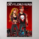 La cuadrilla del motorista de Devildrivers Posters