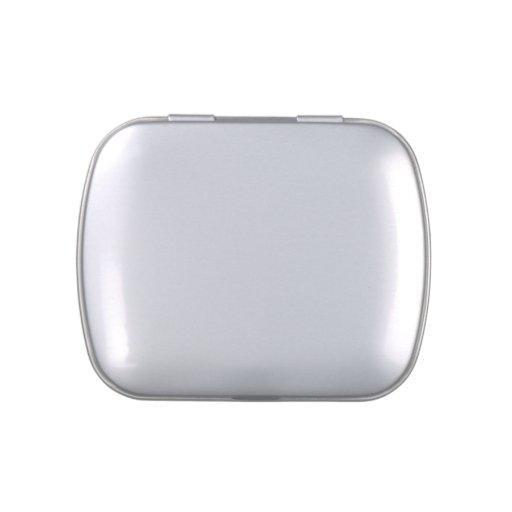 La cubierta blanca con base metálica cuadrada hace jarrones de caramelos