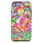 La cubierta colorida florece la caja abstracta del funda de iPhone 6 tough