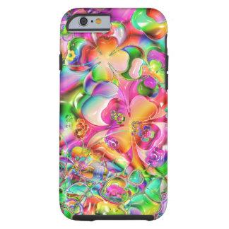 La cubierta colorida florece la caja abstracta del funda para iPhone 6 tough
