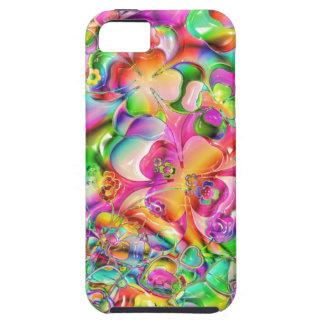 La cubierta colorida florece la cubierta abstracta iPhone 5 funda