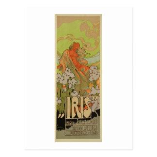 La cubierta de la cuenta y el libreto de la ópera tarjeta postal