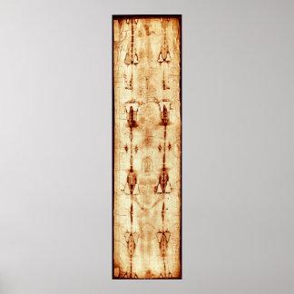 La cubierta de la imagen de Jesús del paño de lino Póster