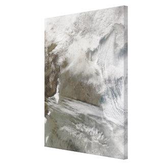 La cubierta de nieve cerca a BO Hai Lienzo Envuelto Para Galerias