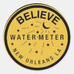La cubierta del contador del agua de New Orleans Pegatina Redonda