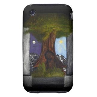 La cubierta del iPhone 3 del árbol del mundo Tough iPhone 3 Cárcasas