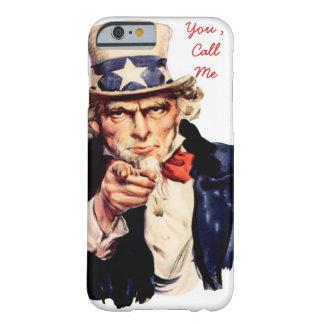 la cubierta divertida del iPhone, me llama Funda De iPhone 6 Barely There