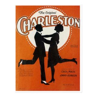 La cubierta original de la hoja de la canción del postal