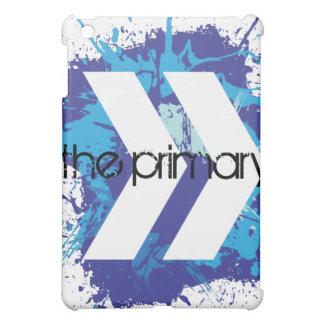 La cubierta primaria azul del iPad del chapoteo