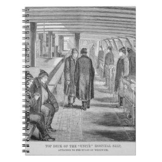"""La cubierta superior del """"une"""" el buque hospital a libro de apuntes"""