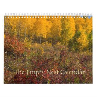 La cubierta vacía del otoño del calendario de la