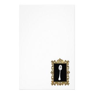 La cuchara enmarcada papeleria de diseño