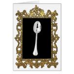 La cuchara enmarcada tarjeta