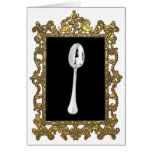 La cuchara enmarcada tarjeta de felicitación