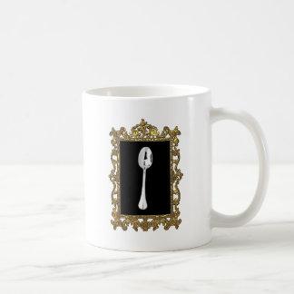 La cuchara enmarcada taza clásica