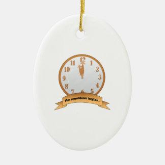 la cuenta descendiente adorno ovalado de cerámica