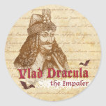 La cuenta histórica Drácula Pegatina Redonda