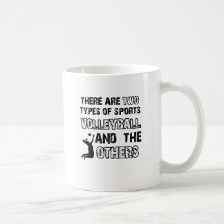 la cuerda de la bola del voleo diseña para los ama taza de café