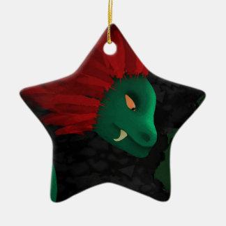 La cueva adorno navideño de cerámica en forma de estrella