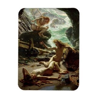 La cueva de la tormenta Nymphs, 1903 (aceite en Iman Flexible