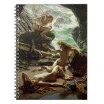 La cueva de la tormenta Nymphs, 1903 (aceite en Spiral Notebook