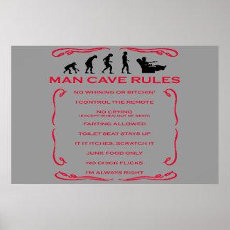 La cueva del hombre gobierna el poster póster