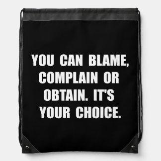 La culpa se queja obtiene mochilas
