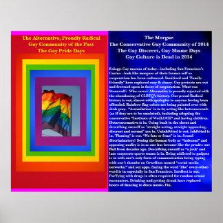 La cultura gay es en 2014 - bandera muerta del póster
