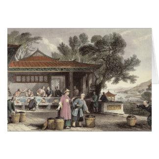 La cultura y la preparación del té, de 'China aden Tarjeta De Felicitación