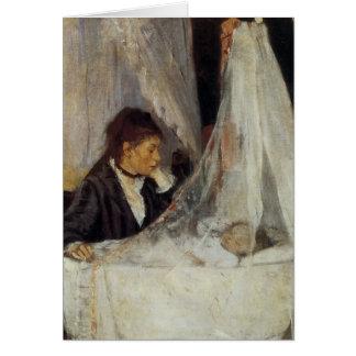 La cuna de Berthe Morisot Tarjeta De Felicitación
