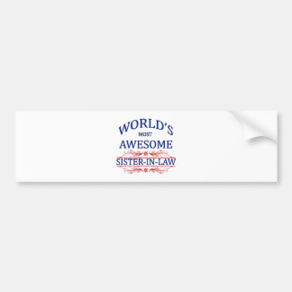 La cuñada más impresionante del mundo etiqueta de parachoque