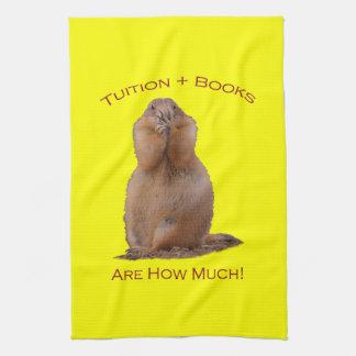 La cuota y los libros son cuánto toallas de mano