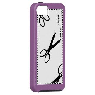 La cupón ahorra púrpura del dinero iPhone 5 carcasa