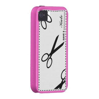 La cupón ahorra rosa del dinero Case-Mate iPhone 4 carcasa