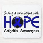 La curación comienza con artritis de la esperanza  tapete de ratones