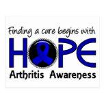 La curación comienza con artritis de la esperanza postal