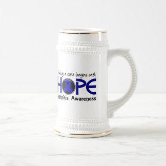 La curación comienza con artritis de la esperanza  tazas de café