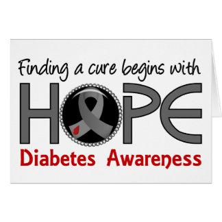 La curación comienza con diabetes de la esperanza tarjeta