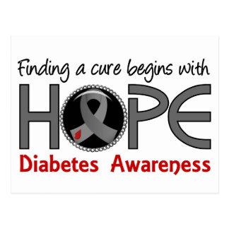 La curación comienza con diabetes de la esperanza postales