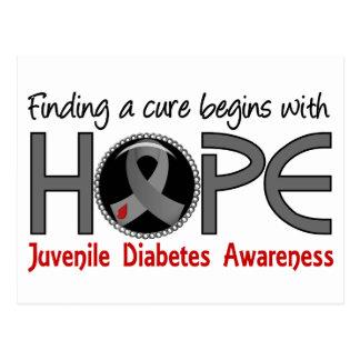 La curación comienza con diabetes juvenil de la postal