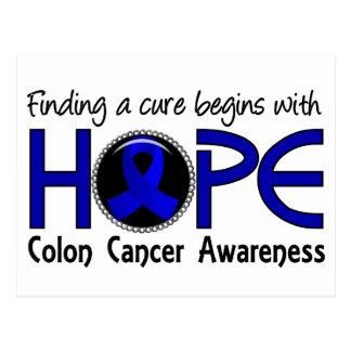 La curación comienza con el cáncer de colon de la postal