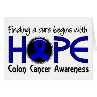 La curación comienza con el cáncer de colon de la tarjeta de felicitación